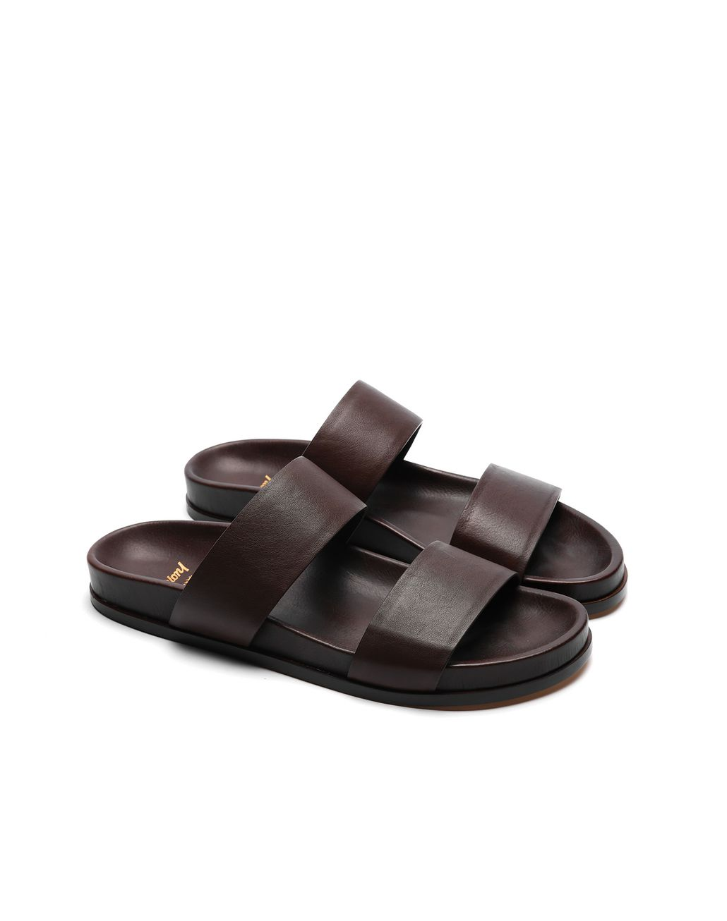 BRIONI Brown Slider Shoes Sandals Man d