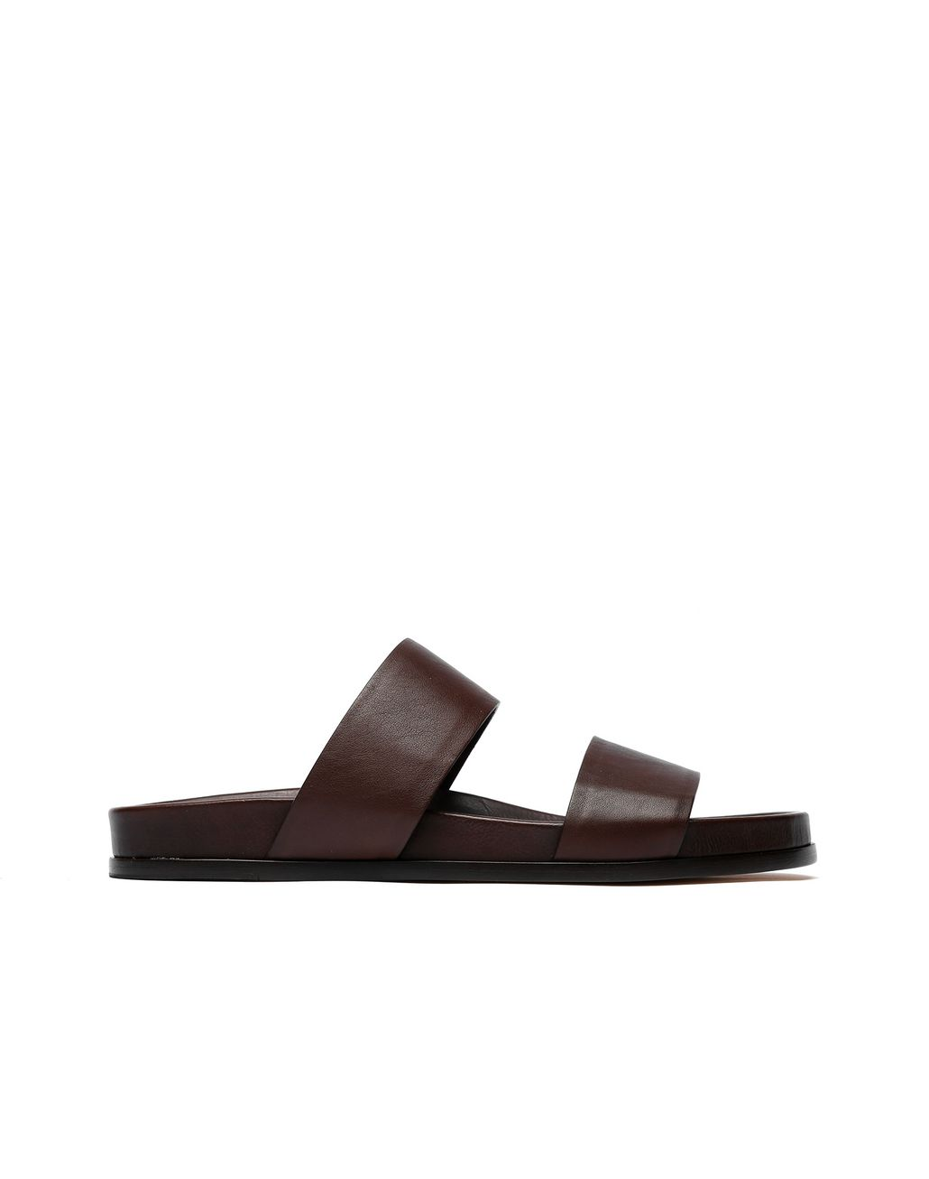 BRIONI Brown Slider Shoes Sandals Man f