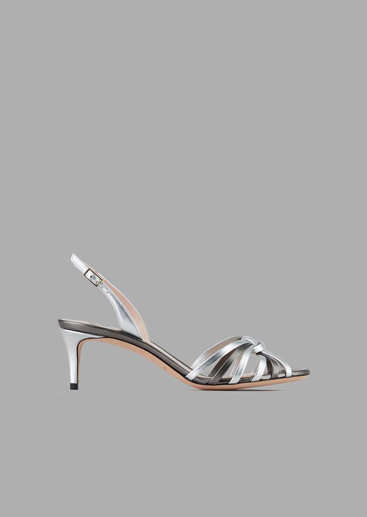492e12b24c1 Sandales avec talon en nappa métallisé