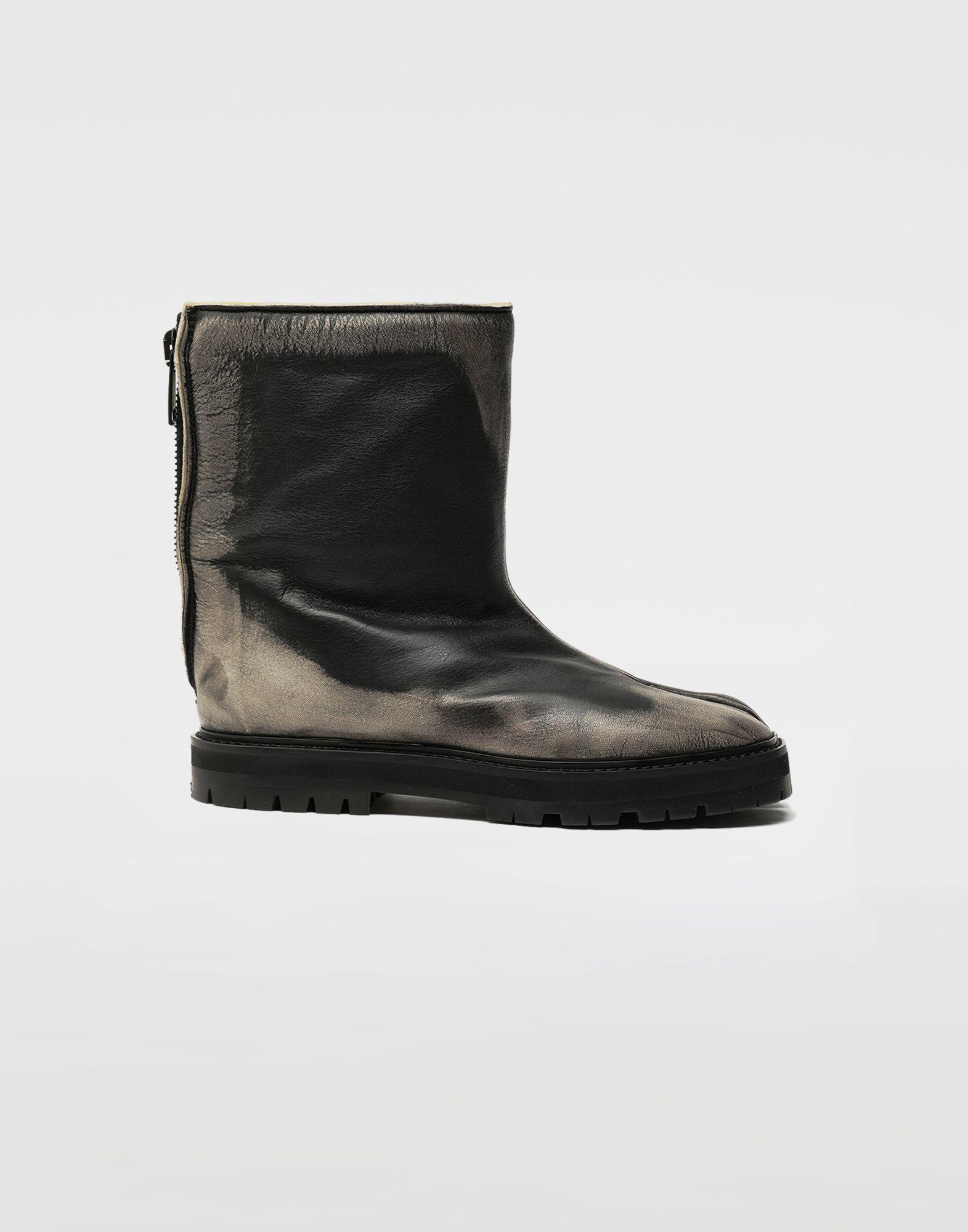 MAISON MARGIELA Tabi leather hunter boots Tabi boots Woman f