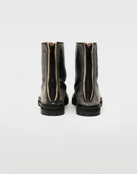 MAISON MARGIELA Tabi leather hunter boots Tabi boots Woman d