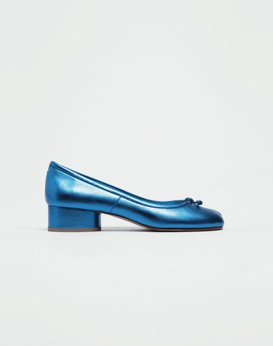 MAISON MARGIELA Tabi ballet flats [*** pickupInStoreShipping_info ***] Tabi laminated leather ballerina pumps f