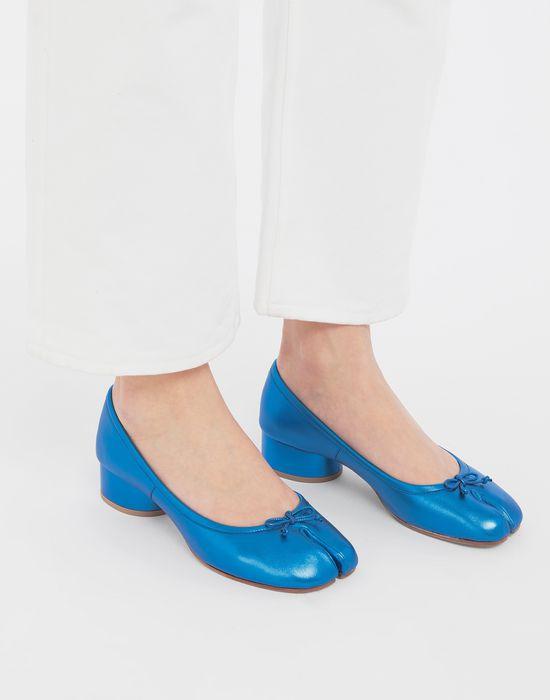 MAISON MARGIELA Tabi laminated leather ballerina pumps Tabi ballet flats [*** pickupInStoreShipping_info ***] b