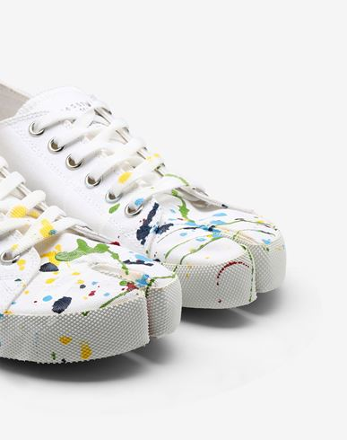 SHOES Tabi Paintdrop canvas sneakers