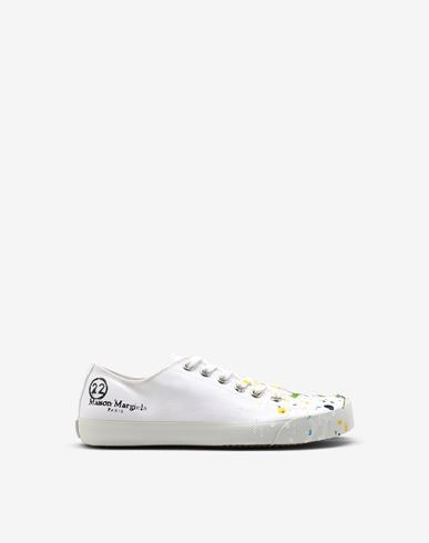MAISON MARGIELA Tabi Paintdrop canvas sneakers Sneakers Tabi [*** pickupInStoreShipping_info ***] f
