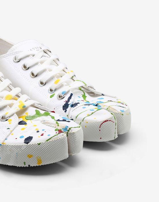 MAISON MARGIELA Tabi Paintdrop canvas sneakers Sneakers Tabi [*** pickupInStoreShipping_info ***] a