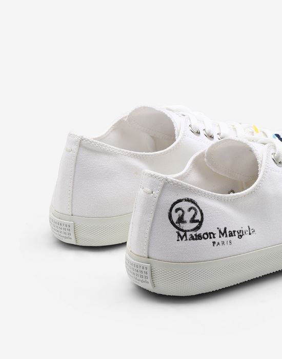 MAISON MARGIELA Tabi Paintdrop canvas sneakers Sneakers Tabi [*** pickupInStoreShipping_info ***] e