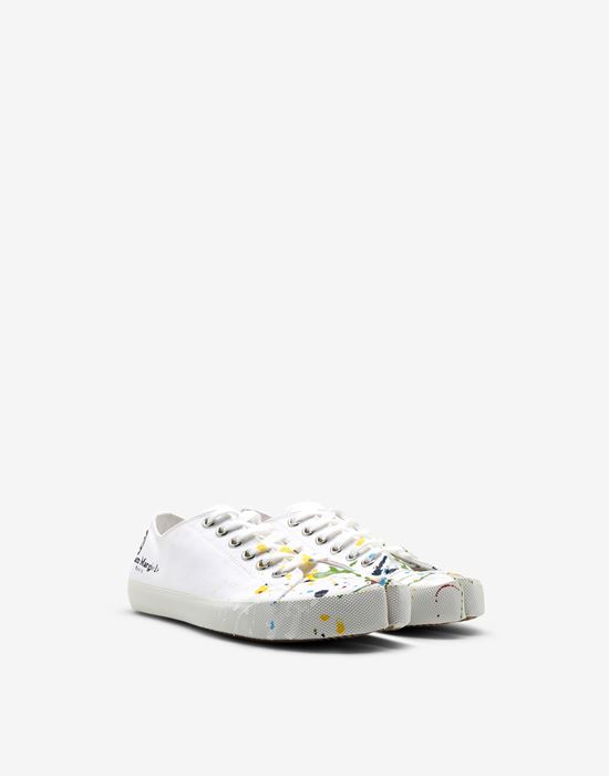 MAISON MARGIELA Tabi Paintdrop canvas sneakers Sneakers Tabi [*** pickupInStoreShipping_info ***] r