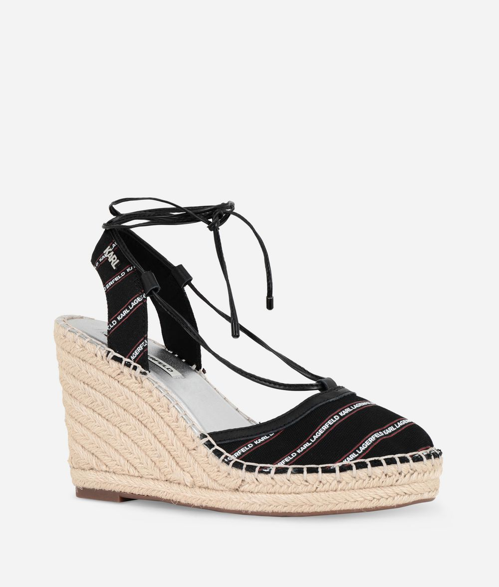KARL LAGERFELD Espadrille Wedge Sandal Wedge Woman f