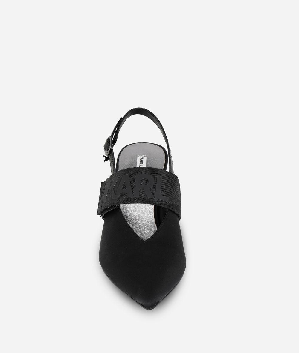 KARL LAGERFELD Kitten Heel Slingback Sandal Sandal Woman d
