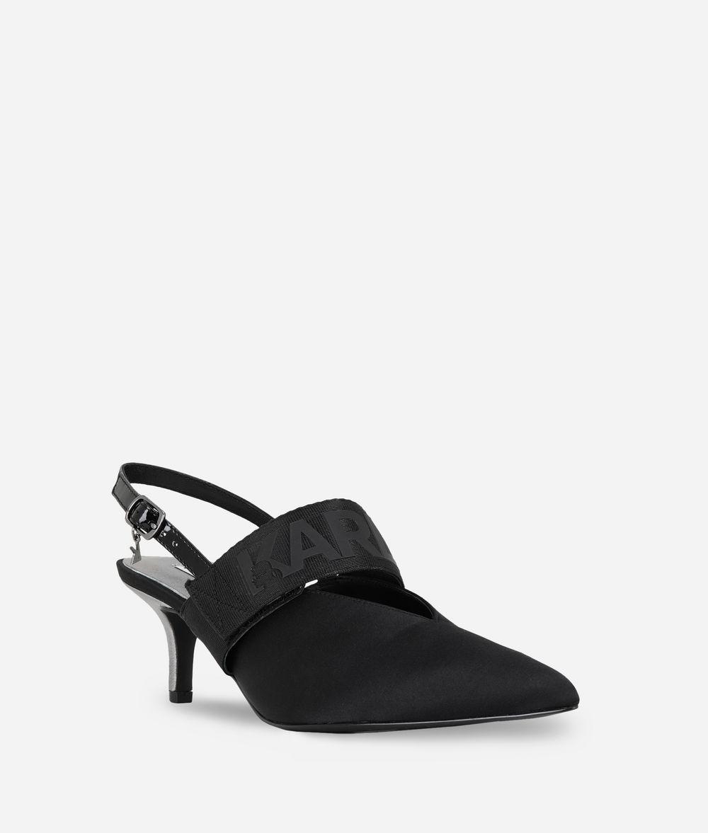 KARL LAGERFELD Kitten Heel Slingback Sandal Sandal Woman f