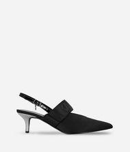KARL LAGERFELD Kitten Heel Slingback Sandal 9_f