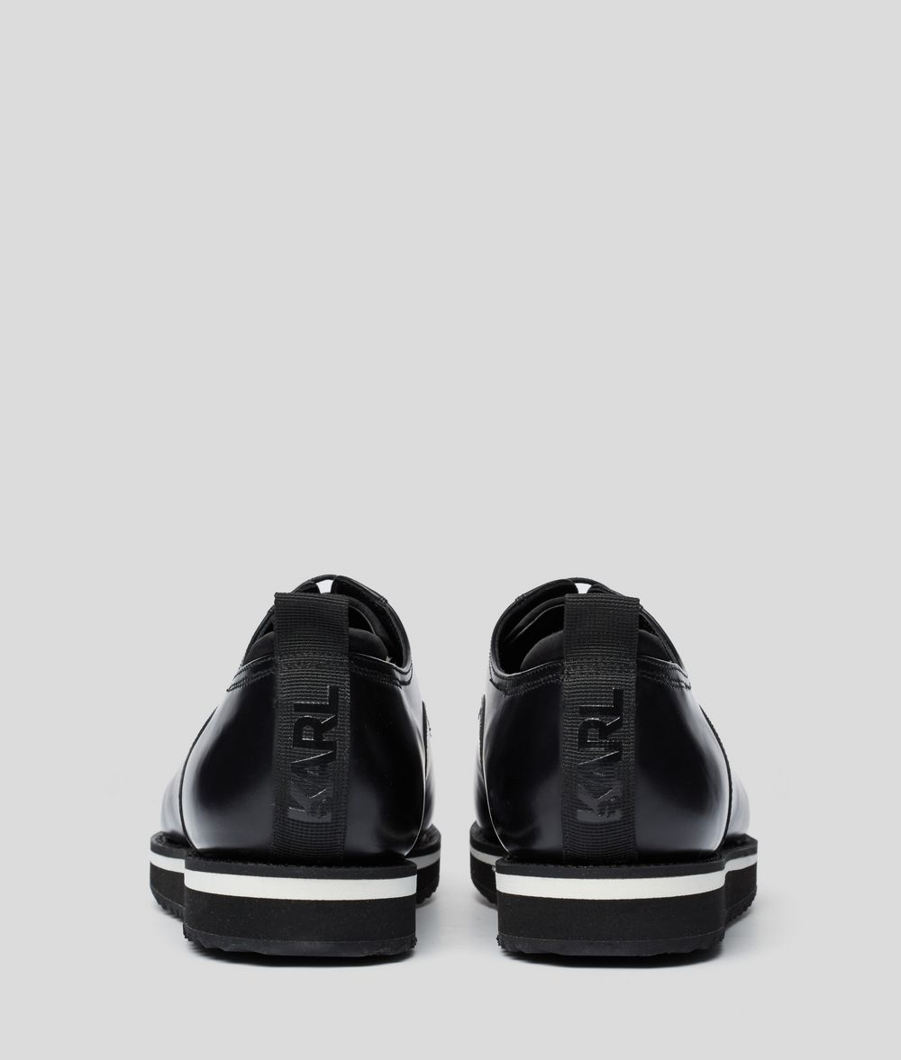 KARL LAGERFELD Lace-Up Leather Dress Shoe Sneakers Man d