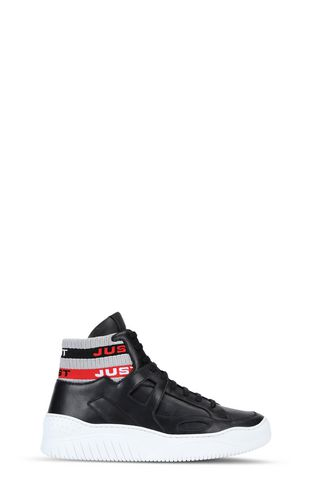 High-top sneaker with chunky sole