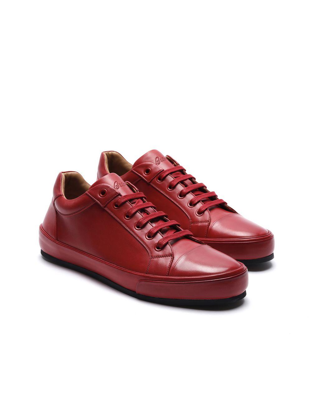 BRIONI Red Sneaker Sneakers [*** pickupInStoreShippingNotGuaranteed_info ***] d
