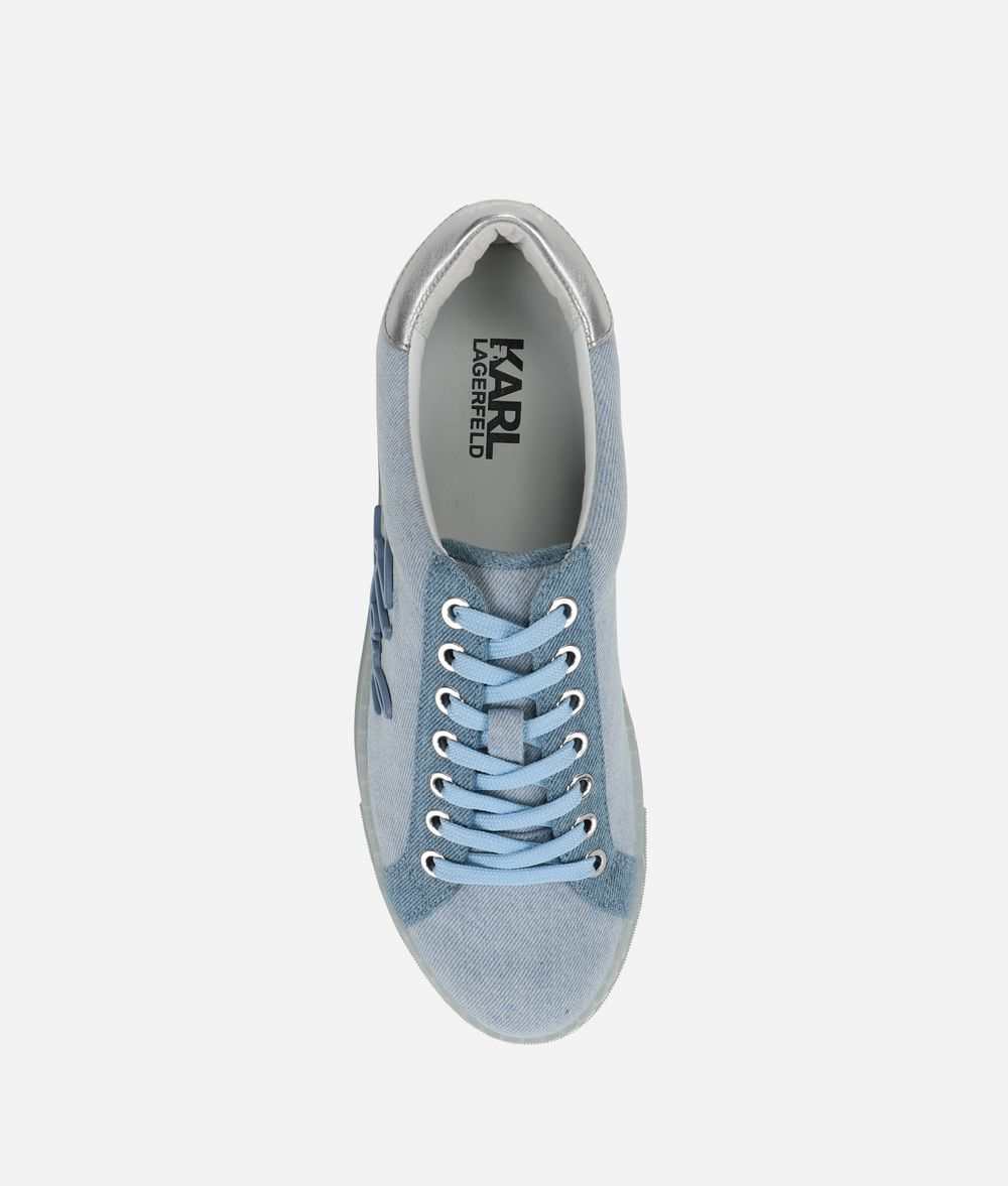 KARL LAGERFELD Kupsole Signia Denim-Sneakers Sneaker Damen d
