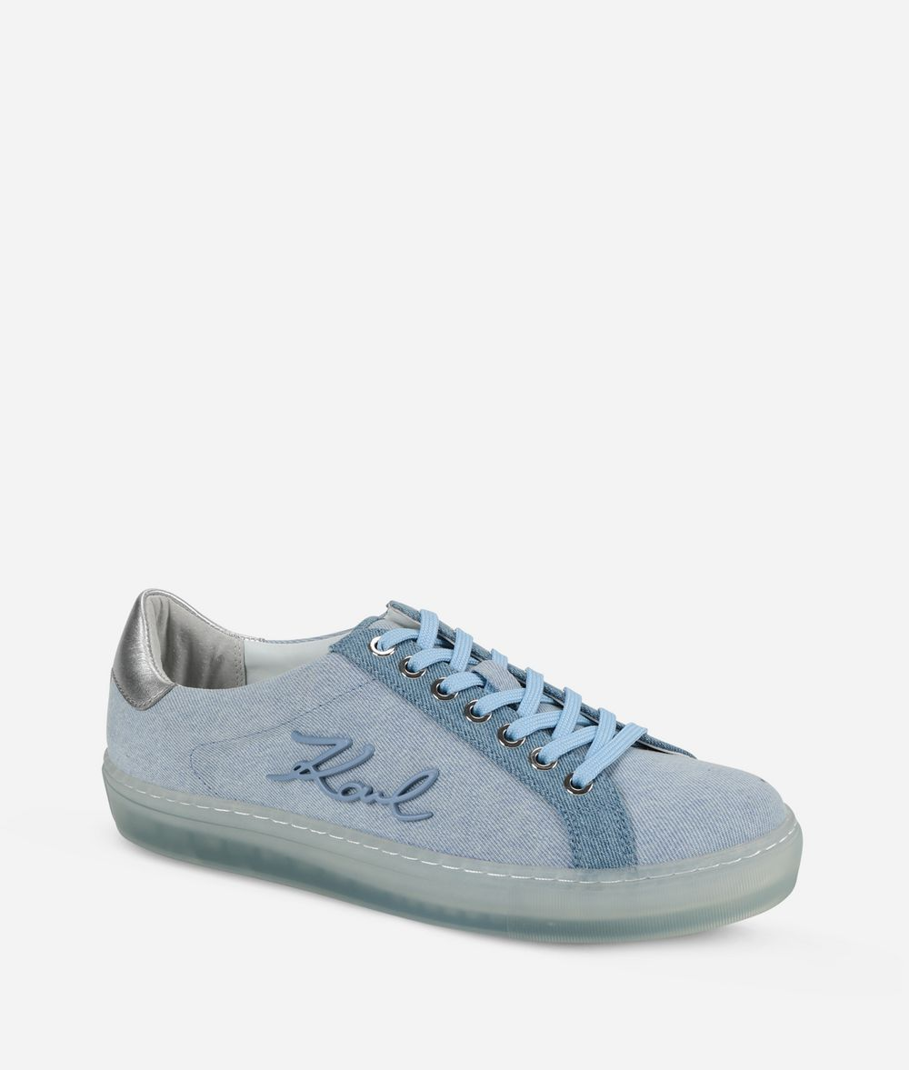 KARL LAGERFELD Kupsole Signia Denim-Sneakers Sneaker Damen f