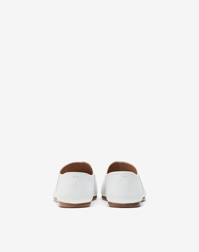 SHOES Tabi leather slip-ons White