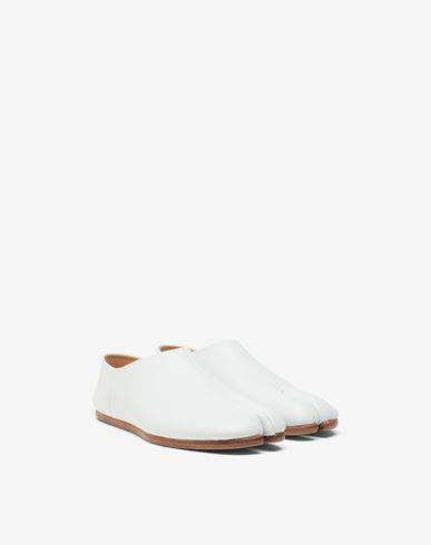 MAISON MARGIELA Moccasins Woman Tabi leather slip-ons r