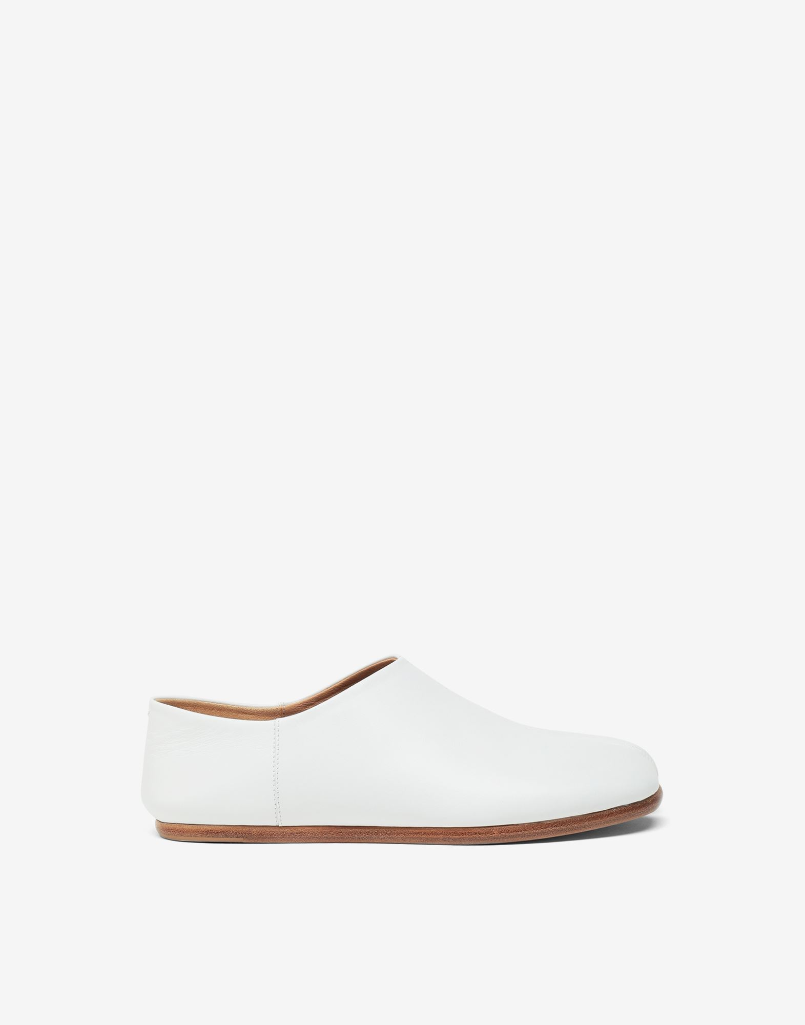 MAISON MARGIELA Tabi leather slip-ons Moccasins Woman f