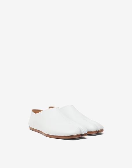MAISON MARGIELA Tabi leather slip-ons Moccasins Woman r