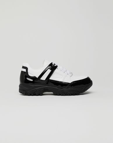 MAISON MARGIELA Security patent leather sneakers Sneakers [*** pickupInStoreShippingNotGuaranteed_info ***] f