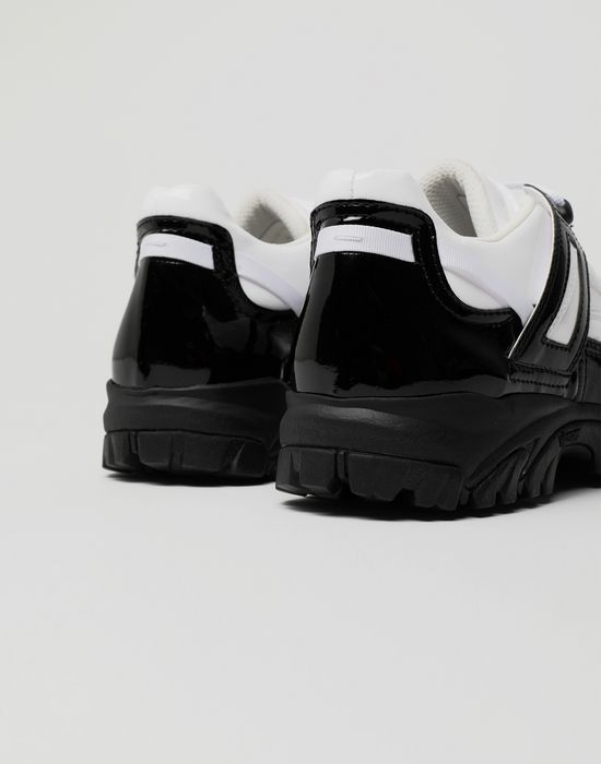 MAISON MARGIELA Security patent leather sneakers Sneakers [*** pickupInStoreShippingNotGuaranteed_info ***] a
