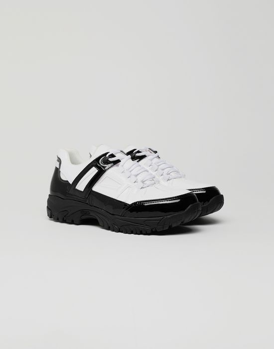 MAISON MARGIELA Security patent leather sneakers Sneakers [*** pickupInStoreShippingNotGuaranteed_info ***] r