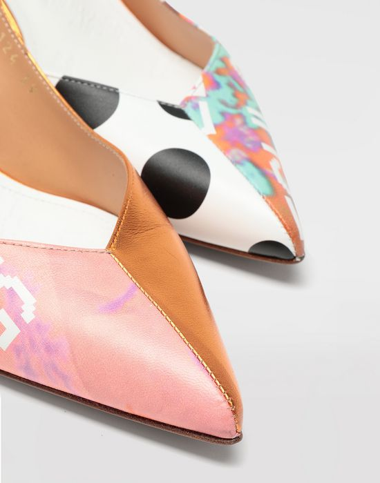MAISON MARGIELA Error print leather slingbacks Closed-toe slip-ons [*** pickupInStoreShipping_info ***] a