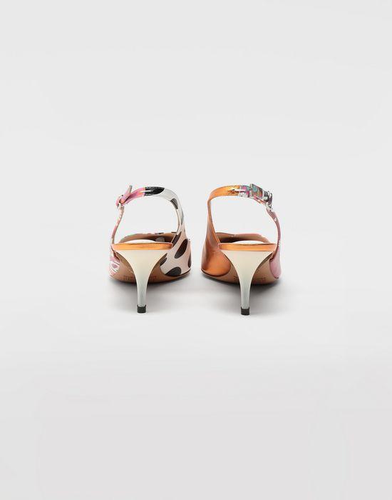 MAISON MARGIELA Error print leather slingbacks Closed-toe slip-ons [*** pickupInStoreShipping_info ***] d