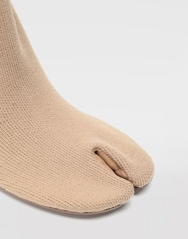 SHOES Tabi knit sock boots Camel