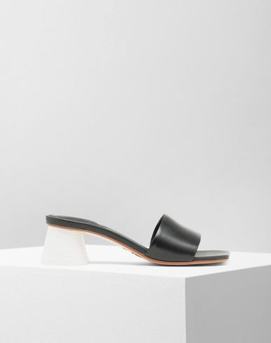MM6 MAISON MARGIELA Mules à talon gobelet expresso Sandals [*** pickupInStoreShipping_info ***] f