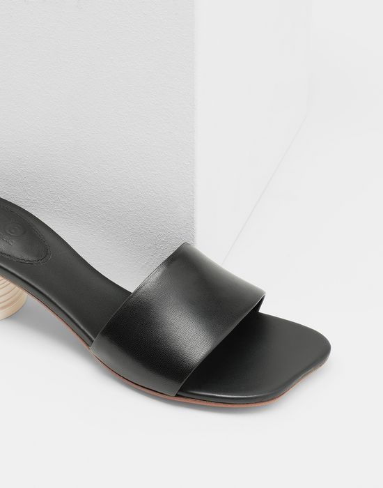 MM6 MAISON MARGIELA Mules à talon gobelet expresso Sandals [*** pickupInStoreShipping_info ***] a