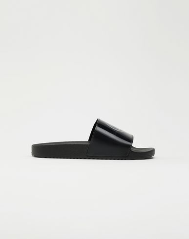 MAISON MARGIELA Hologram logo-print leather slides Sandals [*** pickupInStoreShipping_info ***] f