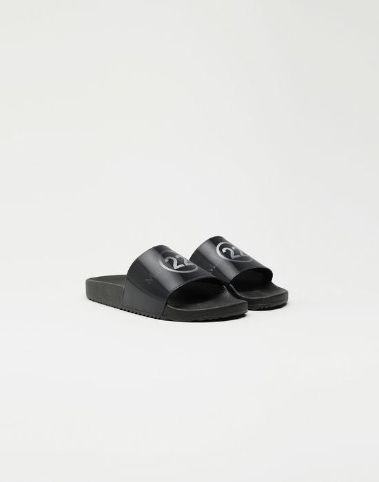 MAISON MARGIELA Hologram logo-print leather slides Sandals [*** pickupInStoreShipping_info ***] r