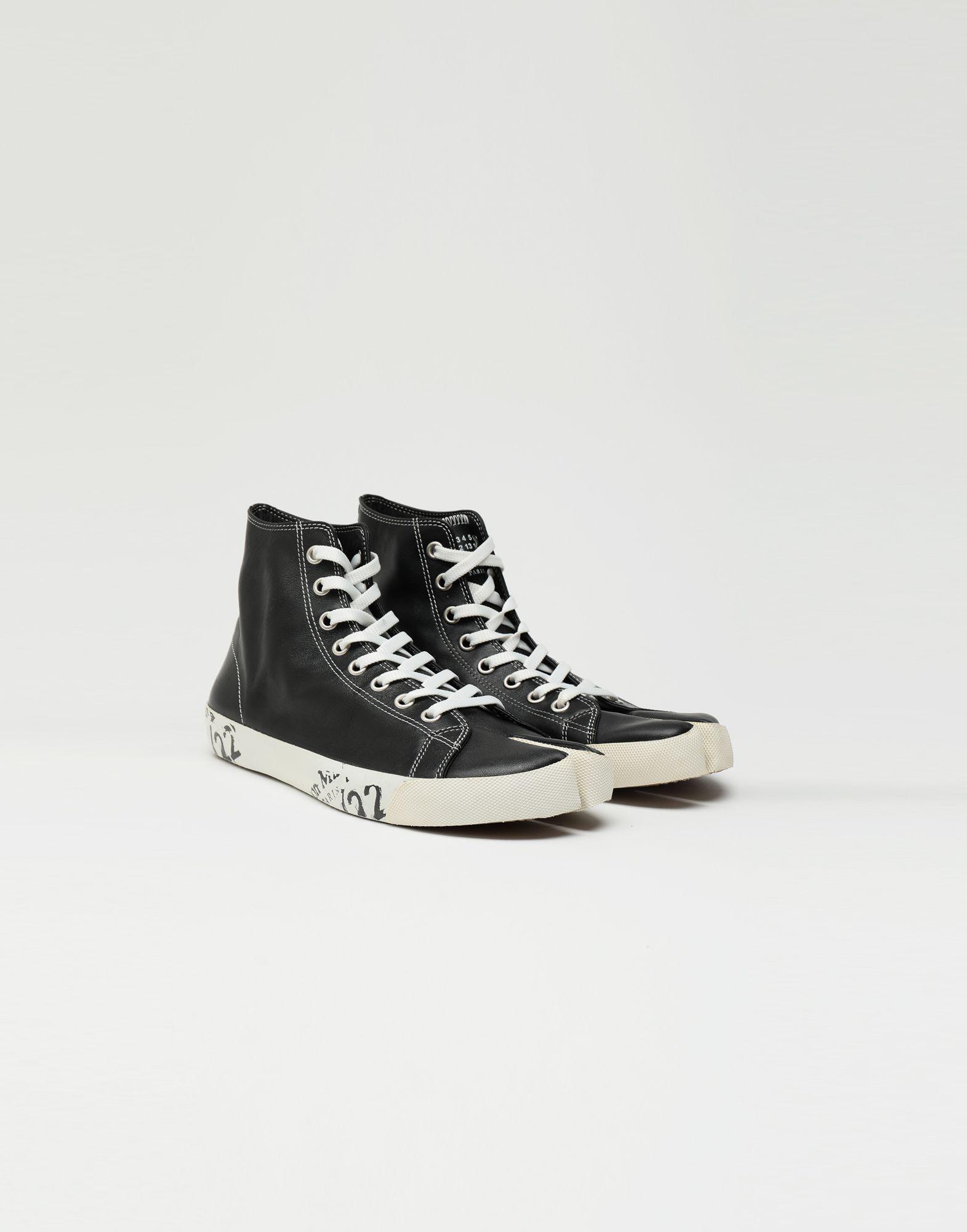 MAISON MARGIELA Tabi high top leather sneakers Sneakers Tabi Man r