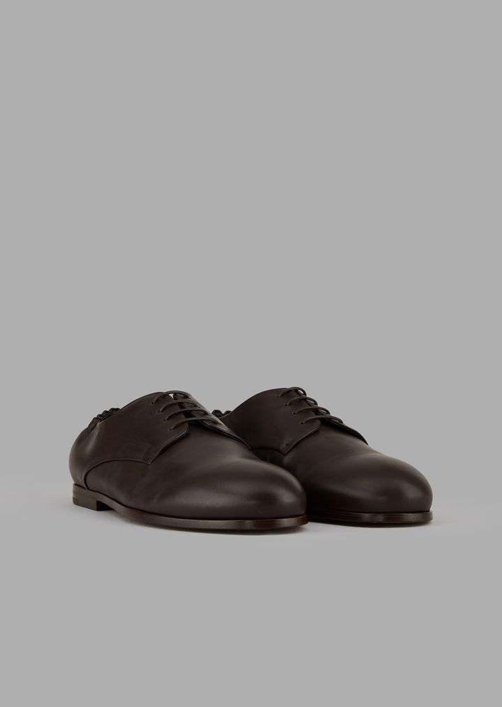 04424d5936 Nappa leather lace-ups with stretch back