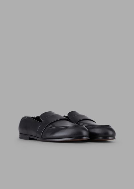 Vendome nappa leather moccasins with stretch back