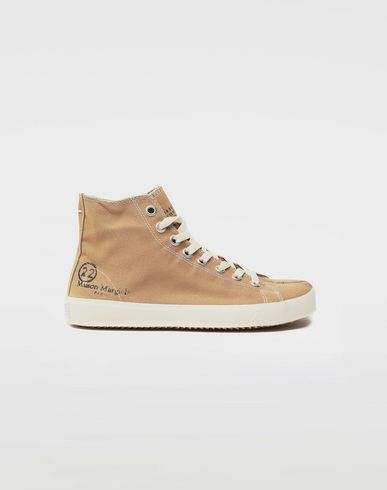 Tabi high top canvas sneakers