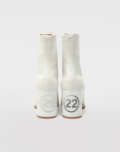 SHOES Tabi hologram ankle boots White