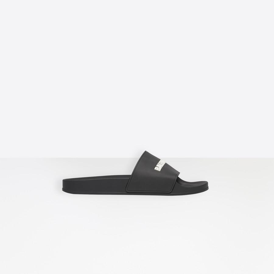 Piscine Slide Sandals BLACK / WHITE for
