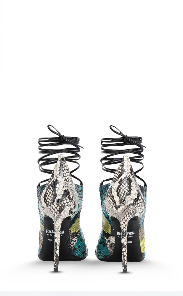 JUST CAVALLI Open-toe python-print court shoe Pump Woman d