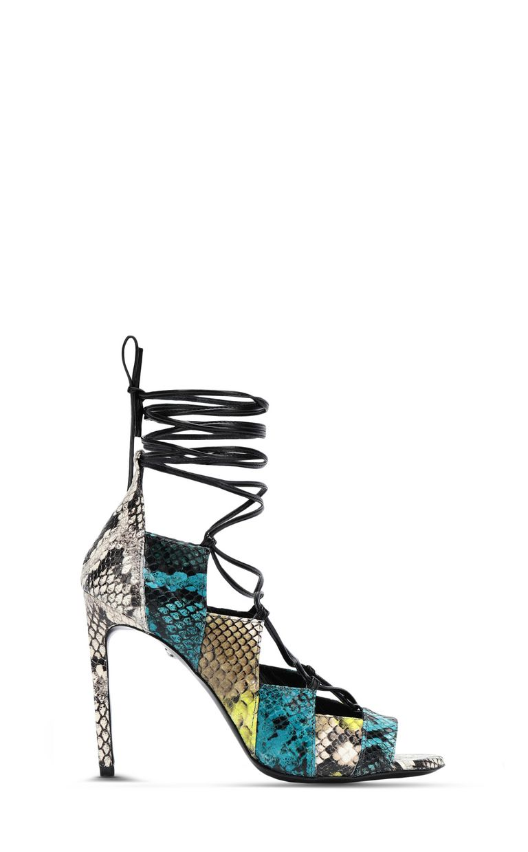 JUST CAVALLI Open-toe python-print court shoe Pump Woman f