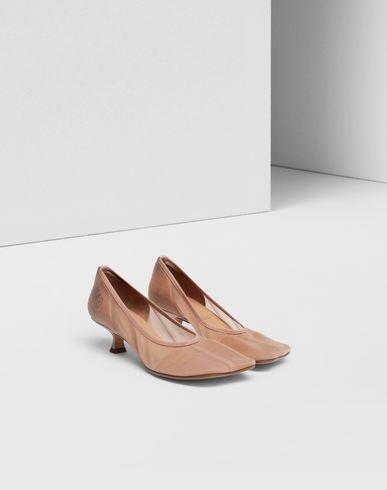 SHOES Toe-shaped flare mesh stilettos
