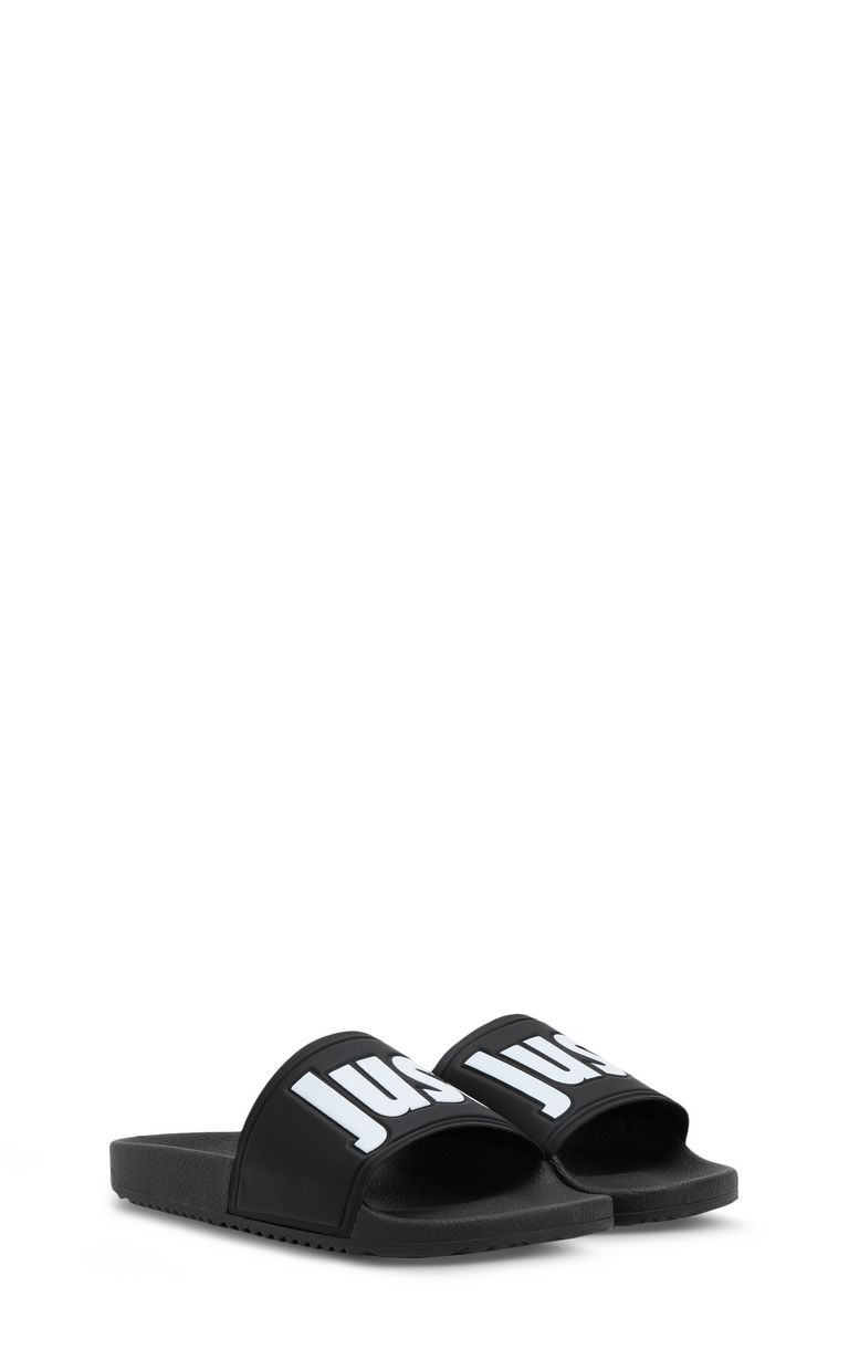 JUST CAVALLI Logoed PVC slides Sandals Man r