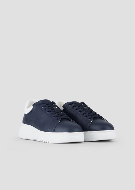 Napa leather sneakers with thick sole