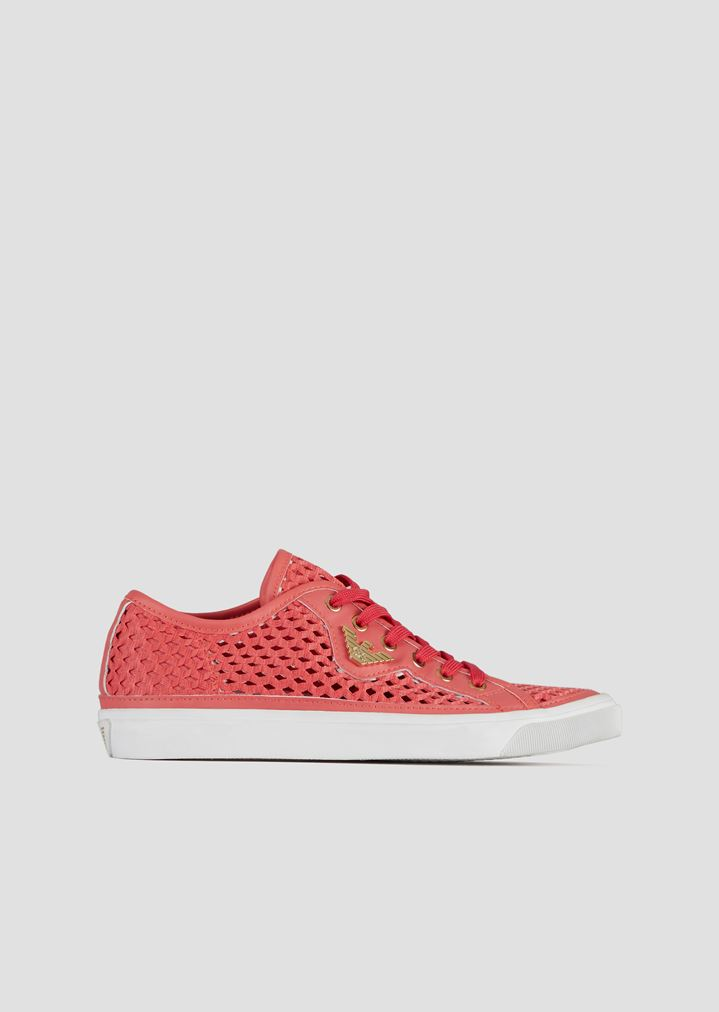dc84badf34 Sneakers in woven perforated canvas