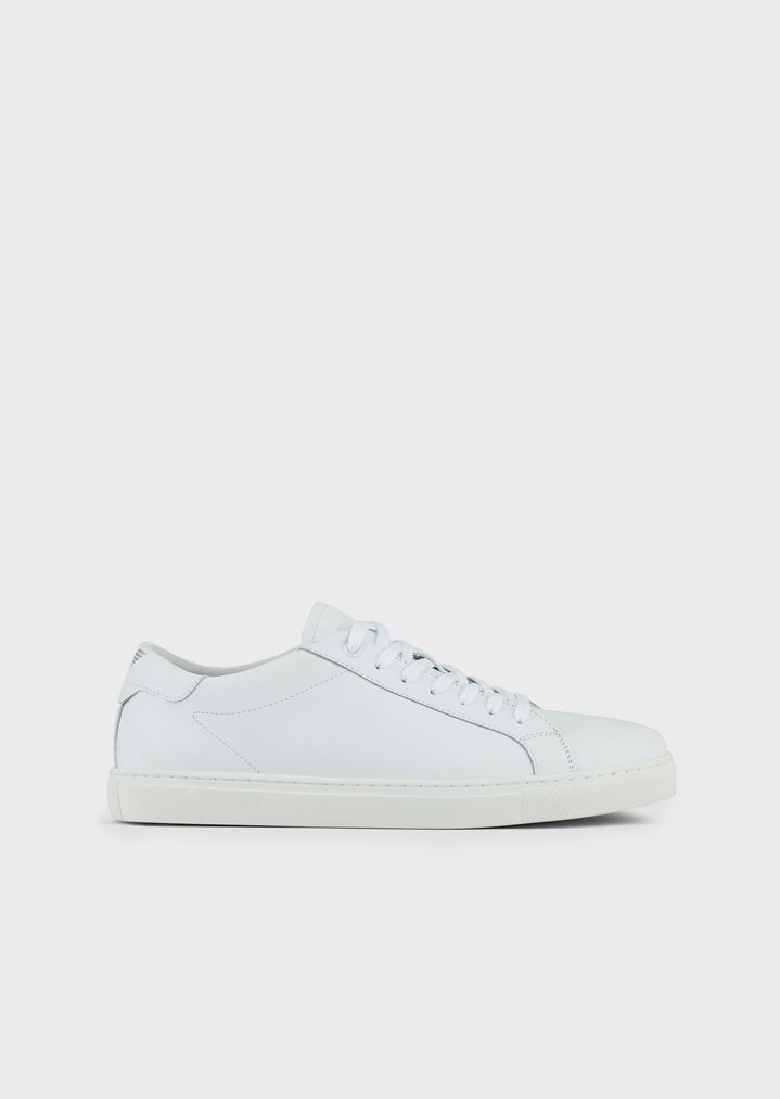 eba04b152 Sneakers in nappa leather with logo at the back | Man | Emporio Armani