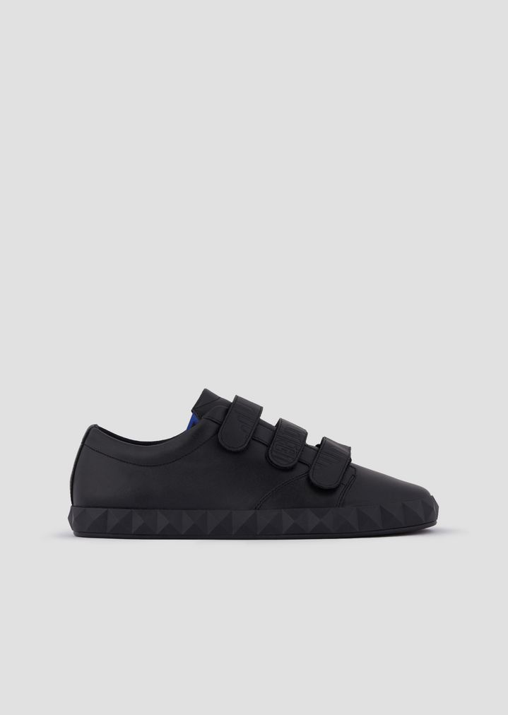 7e3fbce35a Sneakers in leather with Velcro top and three-dimen'sional sole