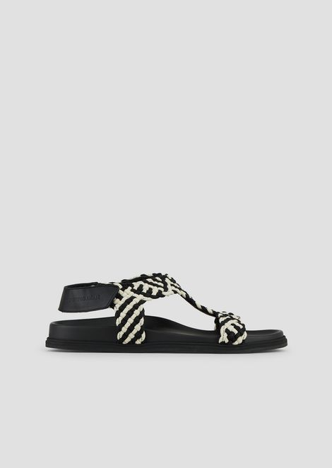 d4987de82aa3 Sandals in woven rope and leather